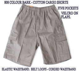 808 BARK -  COTTON CARGO SHORTS