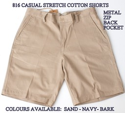 816 CASUAL STRETCH COTTON SHORTS