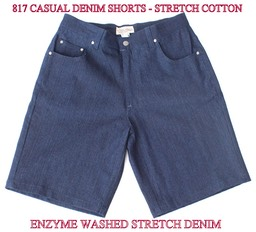 817 STRETCH DENIM SHORTS