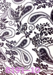 8191-10 swirls black & white- Microfiber - 147cm