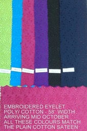 EMBROIDERED EYELET SOLID COLOURS