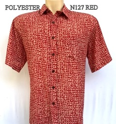 N127 RED POLYESTER