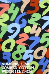 NUMBERS LIME COTTON