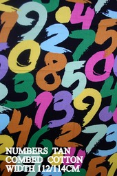 NUMBERS TAN COTTON