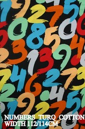 NUMBERS TURQ  COTTON