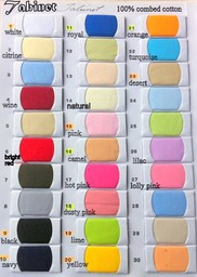 Tabinet colour card 1 to  30