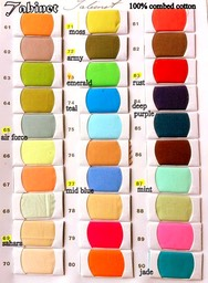 Tabinet colour card 61 to 90
